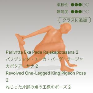 ねじった片脚の鳩のポーズ2